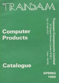 Transam Computer Products Catalogue Spring 1980