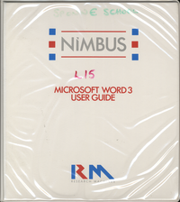 RM Nimbus Microsoft Word 3 Users Guide (New Style Ring Binder)