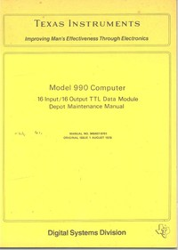 Model 990 Computer 16 Input/16 Output TTL Data Module Depot Maintenance Manual