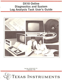 DX 10 Online Diagnostics and System Log Analysis Task User's Guide