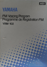 Yamaha FM Voicing Program YRM-102