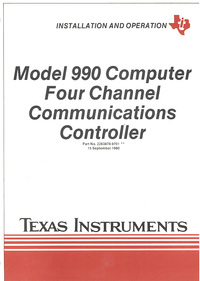 Model 990 Computer Four Channel Communications Controller
