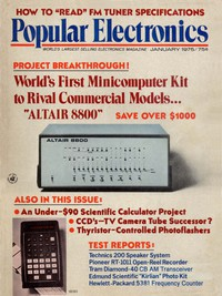 MITS Altair launched on the cover of Popular Electronics magazine