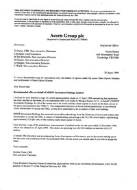 Acorn Takeover Documents