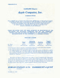 Apple Computer's Initial Share Offering