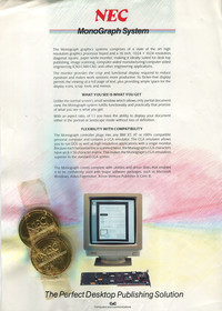 NEC MonoGraph System Advert with Chocolate Coins