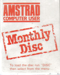 Amstrad Computer User Monthly Disc Jan 1986