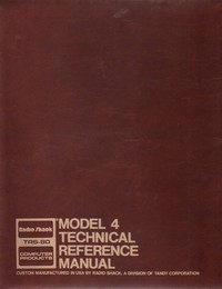 TRS-80 Model 4 Technical Reference Manual
