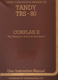TRS-80 CORPLAN II - The Manager's Business Simulation