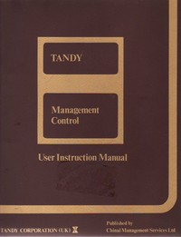 TRS-80 Management Control User Instruction Manaual