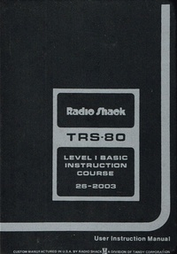 TRS-80 Level 1 Basic Instruction Course