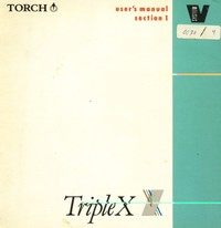 Triple X - Users Manual - Section 1