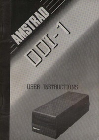 Amstrad DDI-1 Disc Drive & Interface User Instructions