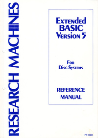 Extended BASIC Version 5 For Disc Systems Reference Manual
