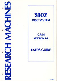 380Z Disc System CP/M Version 2.2 User Guide
