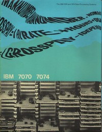 IBM 7070 7074 Data Processing Systems