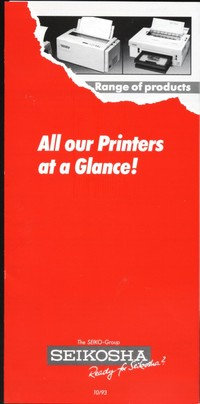 Seikosha - All Our Printers at a Glance