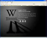 Wikipedia and others Go Dark in protest anti-piracy law