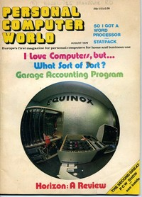 Personal Computer World - August 1979