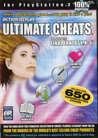 Action Replay Ultimate Cheats for use with Final Fantasy X-2