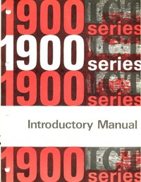 ICT 1900 Series Introductory Manual