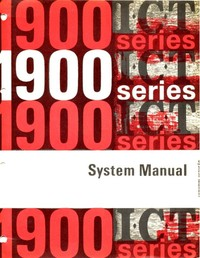 ICT 1900 Series System Manual
