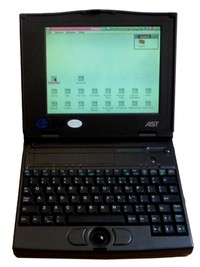 AST Ascentia 800N 486 notebook