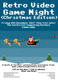Retro Video Game Night (Christmas Edition) - 8 December 2017