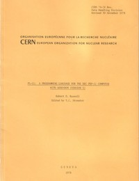 CERN - PL-11: A programming Language for the DEC PDP-11 Computer