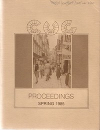 Cray User Group - Proceedings Spring 1985