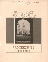 Cray User Group - Proceedings Spring 1983