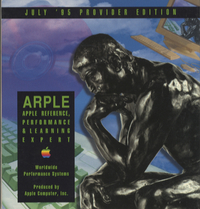 Apple Reference, Performance & Learning Expert. Provider Edition, July 1995.