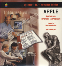 Apple Reference, Performance & Learning Expert. Provider Edition, October 1997.