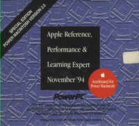 Apple Reference, Performance & Learning Expert. Special Edition Power Macintosh Version 2.0, November 1994.
