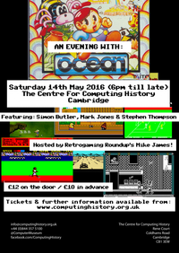 An Evening With Ocean Software - Saturday 14th May 2016
