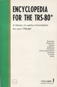Encyclopedia for the TRS-80 Volume 3