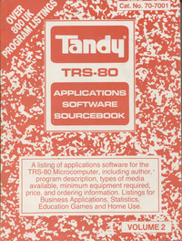 TRS-80 Applications Software Sourcebook Volume 2