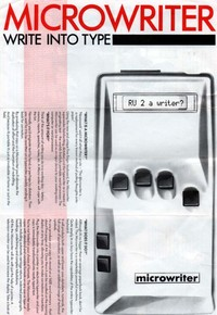 Microwriter Write Into Type Leaflet