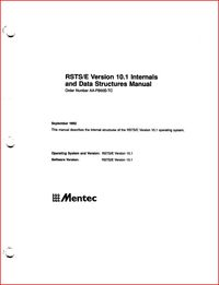 Mentec - RSTS/E Version 10.1 Internals and Data Structures Manual