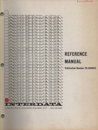 Interdata Reference Manual 29-004R02