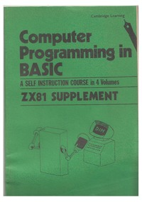 Computer Programming in BASIC - ZX81 Supplement