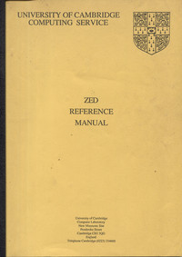 ZED Reference Manual