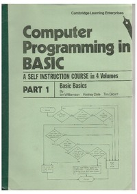 Computer Programming in BASIC - Part 1 - BASIC Basics