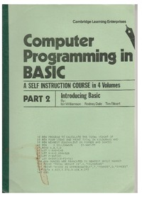 Computer Programming in BASIC - Part 2 - Introducing BASIC