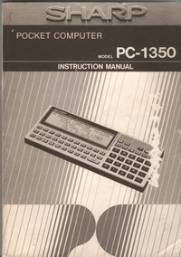 Sharp PC-1350 Instruction Manual