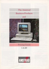 Amstrad Business Products & Pricing Guide 1-8-89