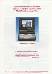 Amstrad ALT-386SX laptop review - What Micro