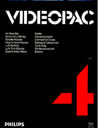 Philips Videopac 04 - Air Sea War - Battle