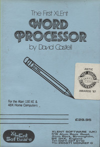 The First XLENT Word Processor (Disk)