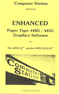 Enhanced Paper Tiger 440G / 445G Graphics Software